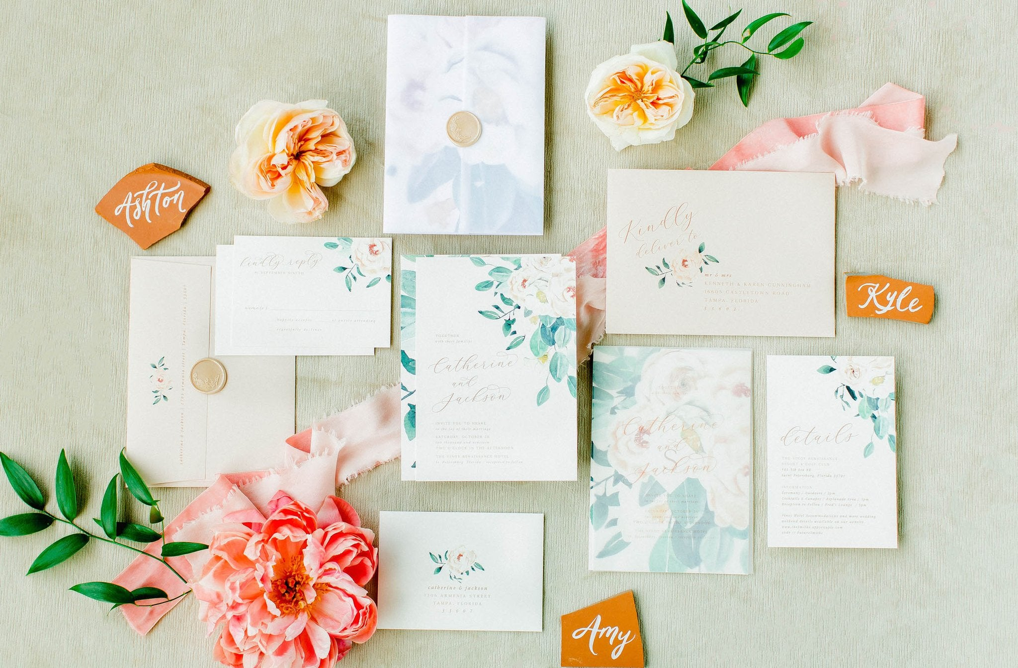 Tropical Hawaii Wedding Invitation