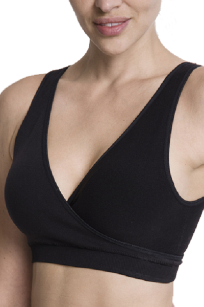 LOVE COMMA Seamless Lounge Nursing Bra - Black