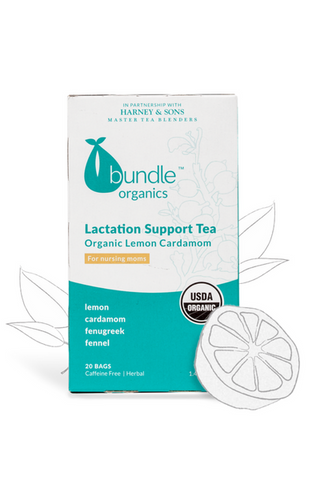 Bundle Organics Organic Lemon Cardamom Lactation Support Tea