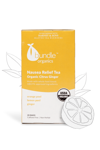 Bundle Organics Organic Citrus Ginger Nausea Relief Tea