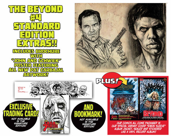 The Beyond Issue #4 Standard Edition! Includes Exclusive Trading Card and Bookmark! Only 600 Copies! Less than 5 sets left!