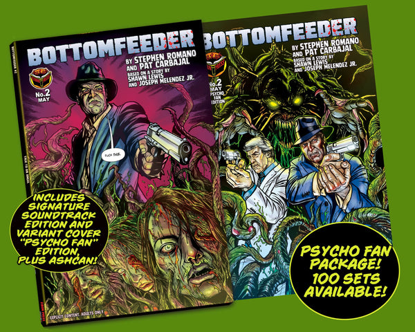 Bottomfeeder #2 Psycho Fan Three Comic Personalized Set - Only 100 Copies!