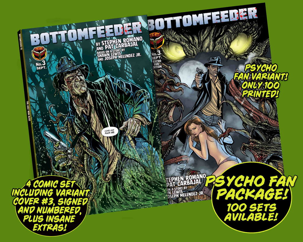 Bottomfeeder #3 Psycho Fan 4-Comic Personalized Set - Only 100 Copies!