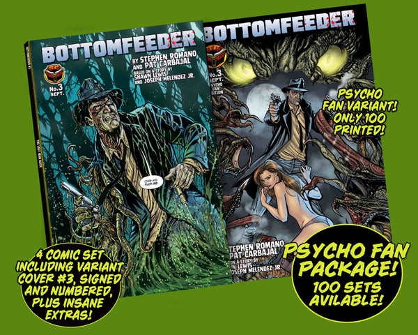Bottomfeeder #3 Psycho Fan 4-Comic Personalized Set - Only 7 copies left!