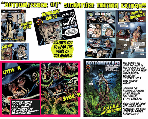 Bottomfeeder #1 Signature Edition With Joe Pilato Download Card! - Only 250 Copies