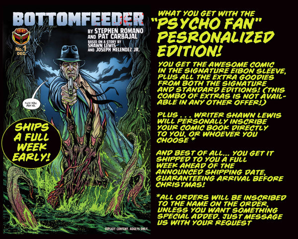 Bottomfeeder #1 Psycho Fan Personalized Edition - Only 50 Copies!
