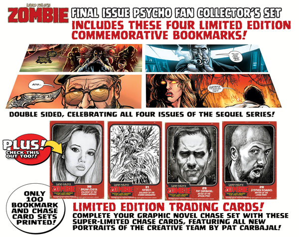 Zombie Issue #8 Psycho Edition! 4 Comic Set Including 150-Page Script Book! - Only 100 Copies! ALMOST GONE!