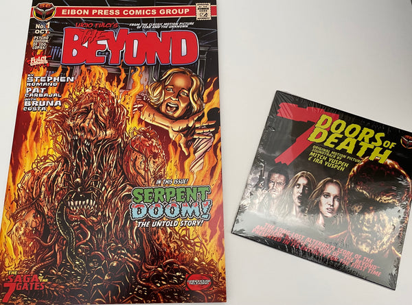 The Beyond Issue #1 WITH 7 Doors Soundtrack CD! Variant Covers, No Sleeve. Just Comic and CD.