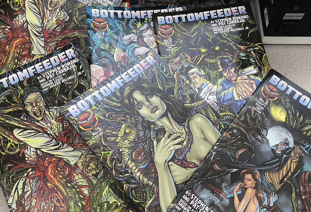 Bottomfeeder Un-Sleeved Collection. All Three Issues! Factory Damaged. No Sleeves, no extras. Just comics