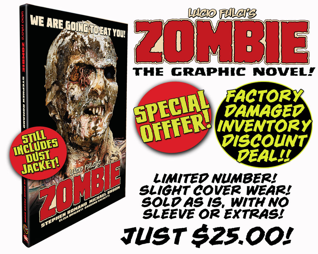 Zombie Hard Cover Graphic Novel - Factory Damaged Inventory SALE! Very minor damage, LOW PRICE! (Almost Gone!)