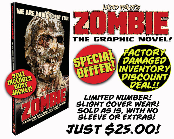 Zombie Hard Cover Graphic Novel - Factory Damaged Inventory SALE! Very minor damage, LOW PRICE!