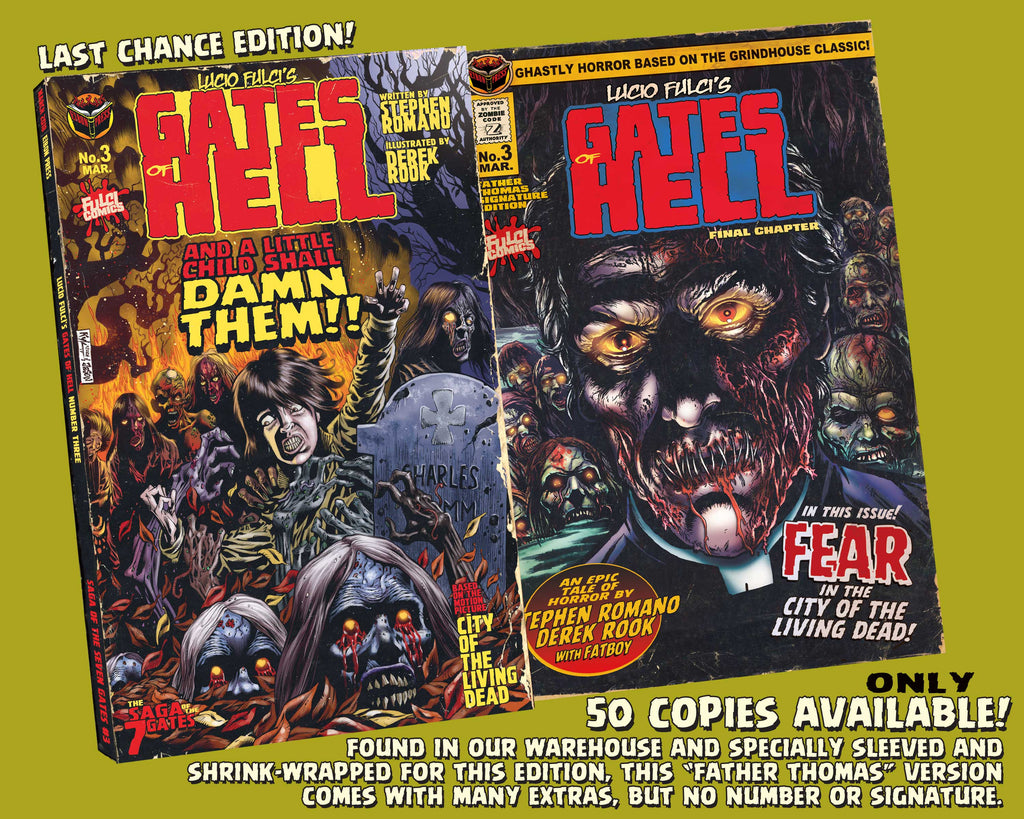 Gates Of Hell Issue #3 Rare Father Thomas Variant In Sleeve! ONLY 50!