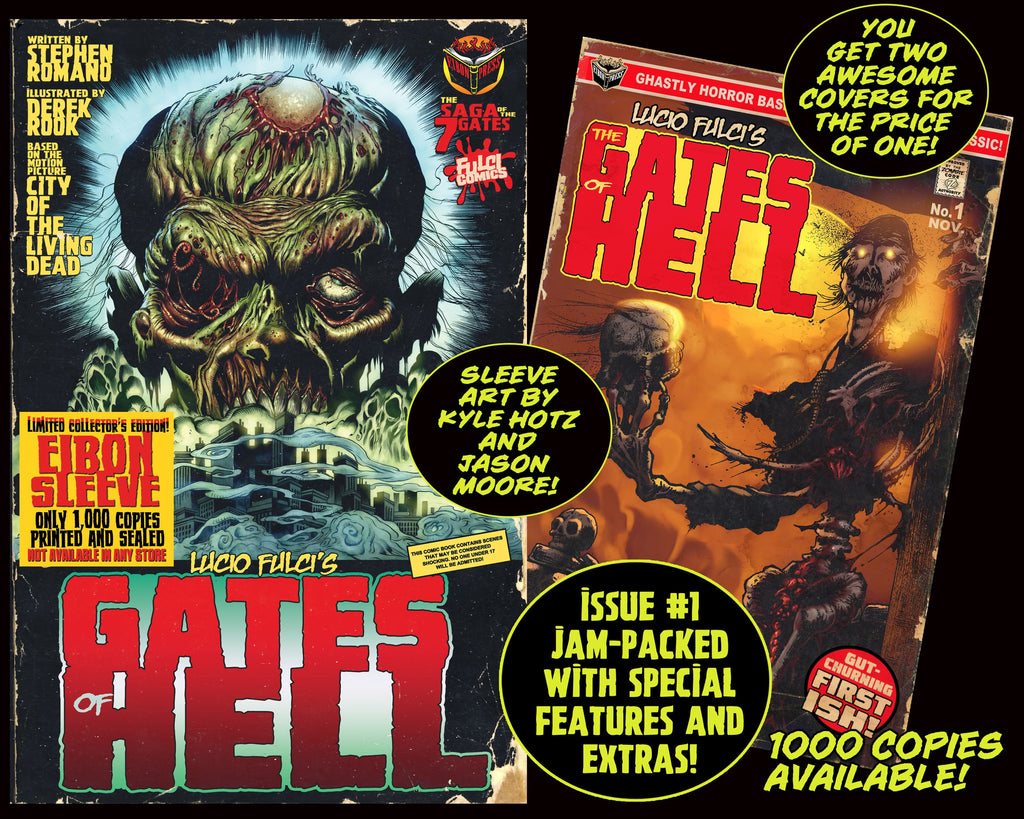 LUCIO FULCI'S GATES OF HELL #1 With EIBON SLEEVE - Unsigned Edition. Only 1,000