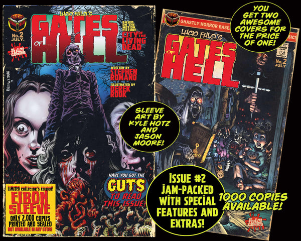 LUCIO FULCI'S GATES OF HELL #2 With EIBON SLEEVE Unsigned Edition. Only 1000!