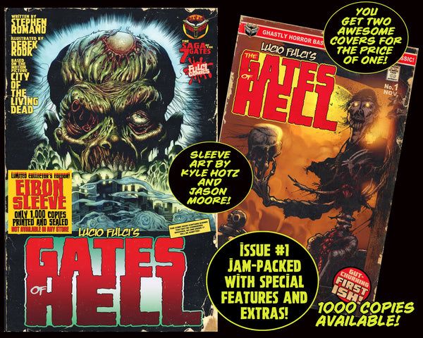 LUCIO FULCI'S GATES OF HELL #1 With EIBON SLEEVE - Unsigned Version Only 1,000!