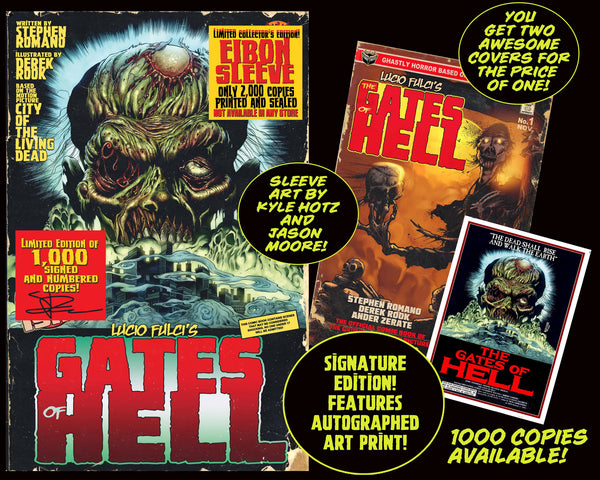 LUCIO FULCI'S GATES OF HELL #1 With EIBON SLEEVE - SIGNED EDITION Only 1,000!