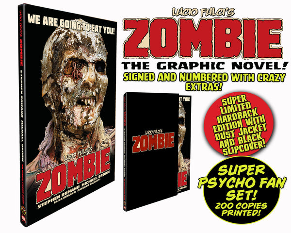 Zombie Graphic Novel Hardback Psycho Fan Set! Signed & Numbered - Only 200 Copies!