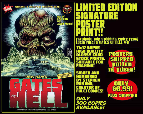 GATES OF HELL LIMITED EDITION 11 x 17 POSTER PRINT! ONLY $6.99!