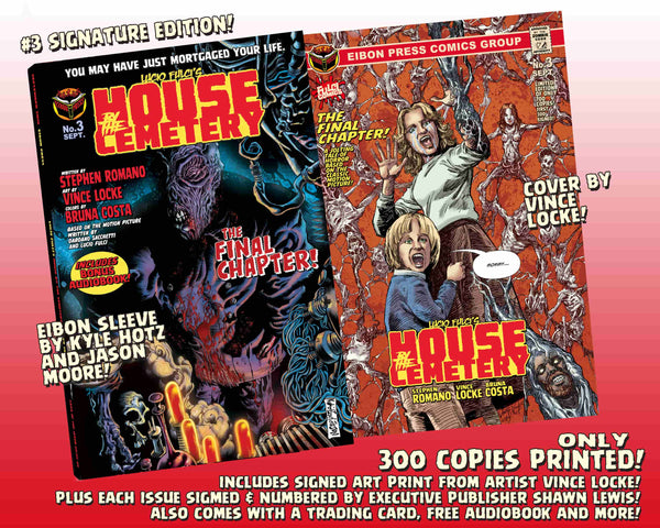 House By The Cemetery Issue #3 Signature Edition With Audio Book Download Card! Only 300 Copies!