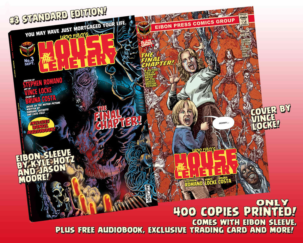 House By The Cemetery Issue #3 Standard Edition With Audio Book Download Card! - Only 500 Copies!