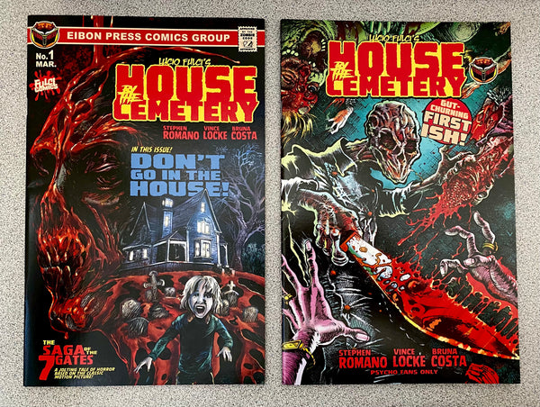 House By The Cemetery Issue #1 Factory Dinged Copies. No Sleeve No Extras.