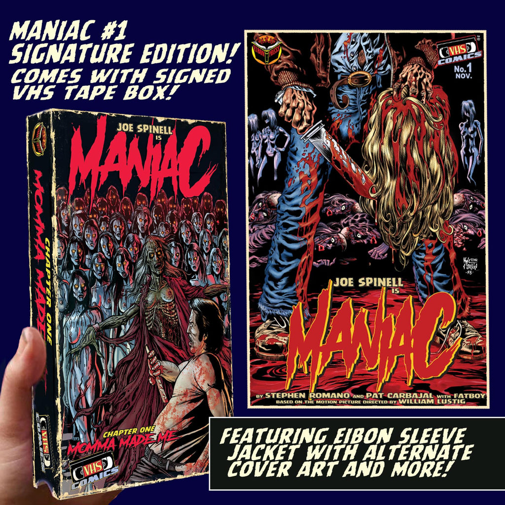 Maniac Issue #1: Souvenir VHS Box Edition - Signed