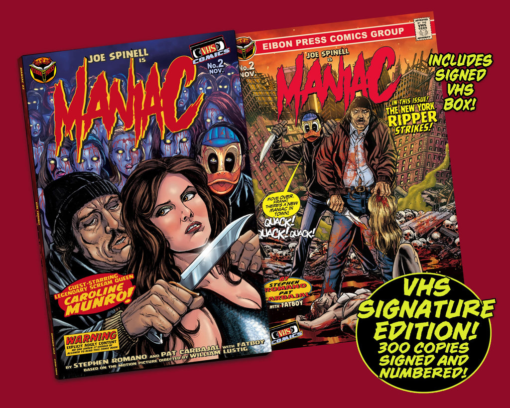 Maniac Issue #2: Signed VHS Box Edition - Only 300 Copies!