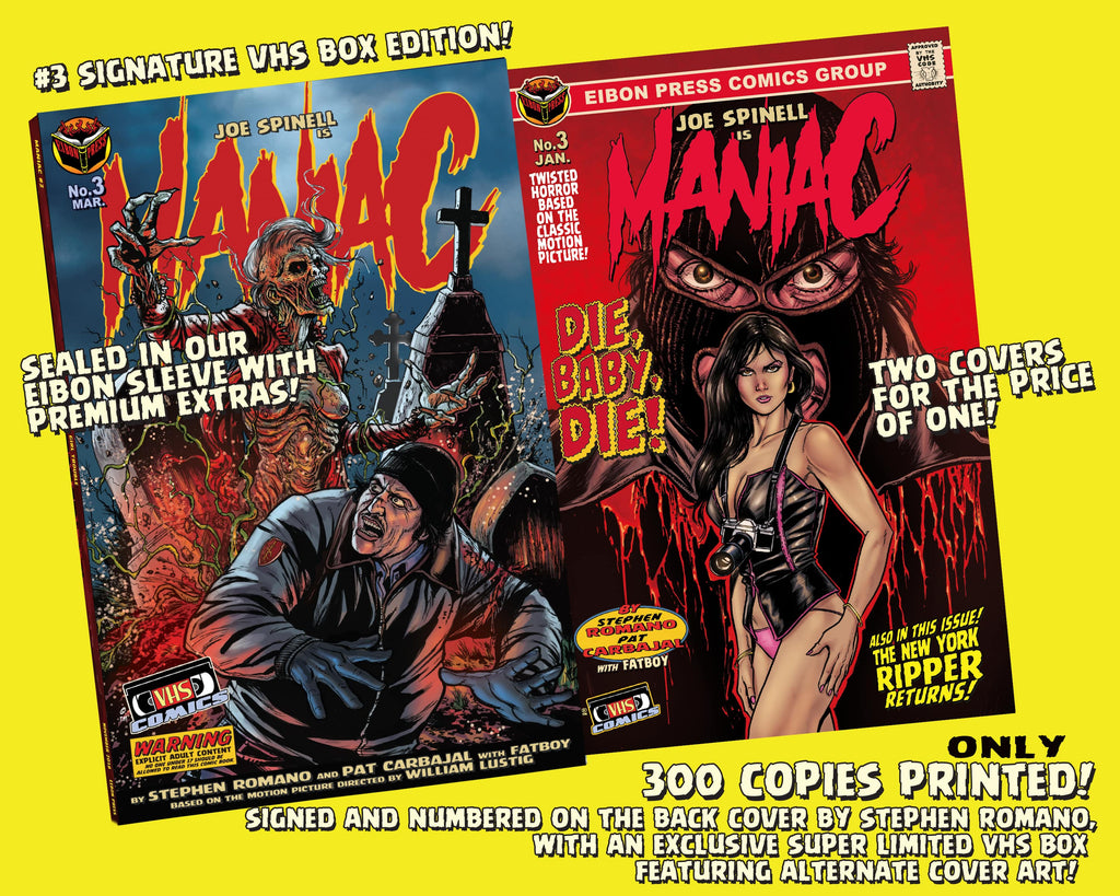 Maniac Issue #3: Signed VHS Box Edition - Only 300 Copies!