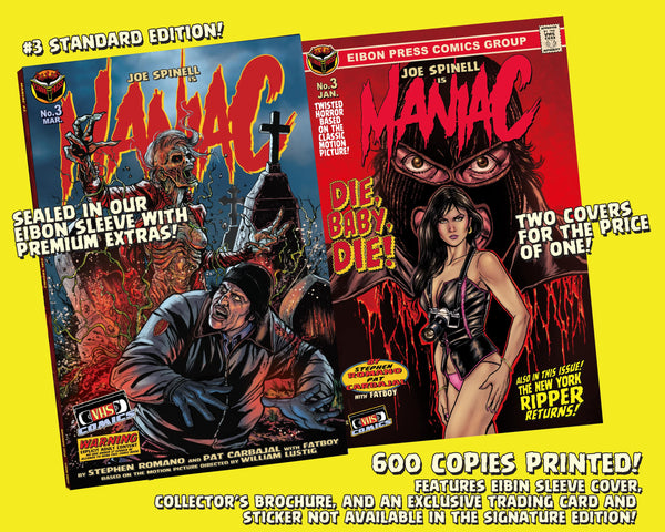 Maniac Issue #3: Standard Edition - Only 600 Copies!