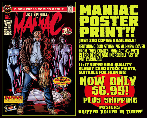 Maniac 11 x 17 Comic Cover Poster Print! Only $6.99!
