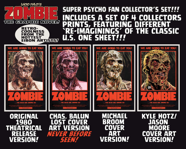 Zombie Graphic Novel Hardback Psycho Fan Set! Signed & Numbered - Sold Out!