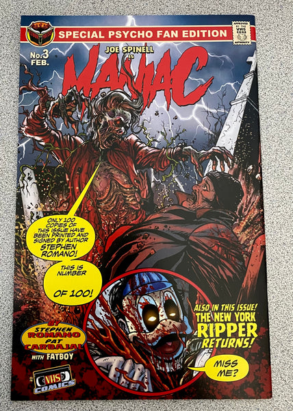 Maniac Issue #3 RARE Psycho Fan Variant Cover!