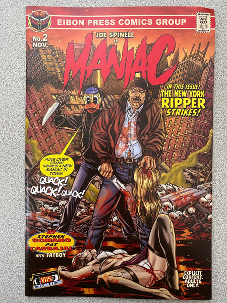 Maniac #2: Factory Damaged Copies. No Sleeve. No Extras.
