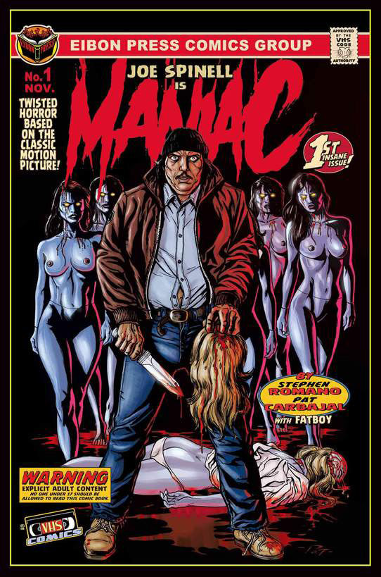 Maniac Comic Cover Poster Signed By Willam Lustig! (ONLY TWO AVAILABLE)