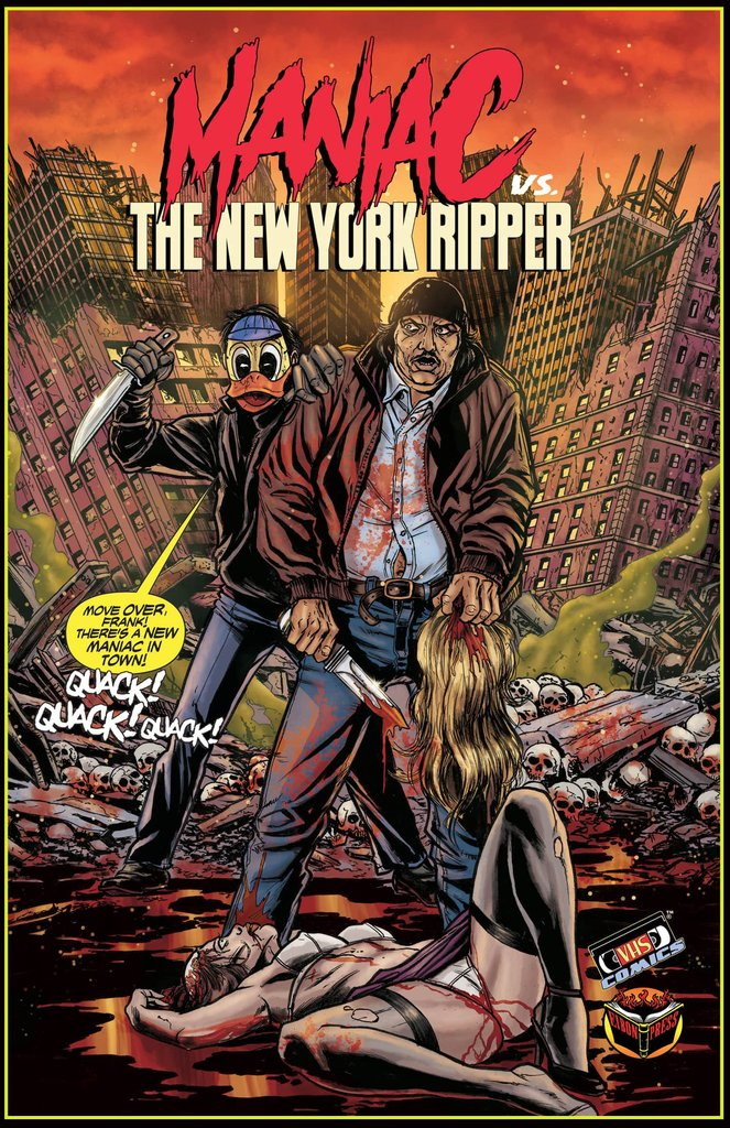 Maniac vs NY Ripper Poster Signed By William Lustig