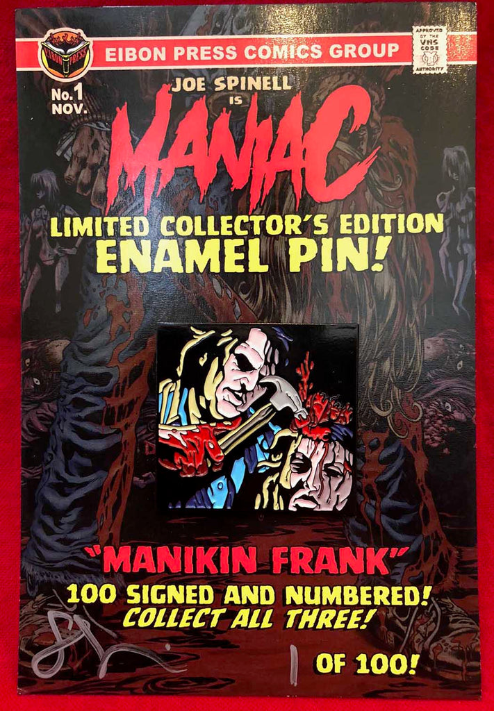 "Maniac Enamel Pin No.1 ""Manikin Frank"" - Only 100 Available!"