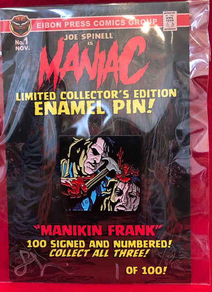"Maniac Enamel Pin No.1 ""Manikin Frank"" - Less than 20 left!"