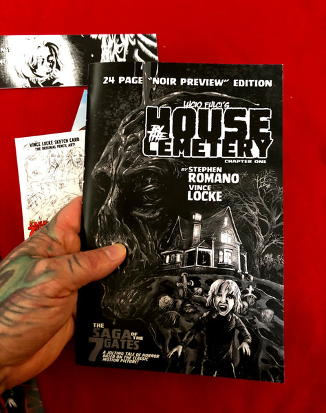House By The Cemetery Issue #1 Psycho Fan Set!