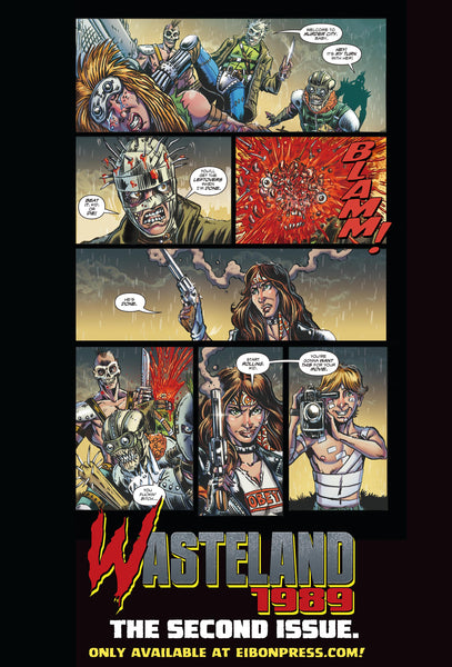 Wasteland 1989 Issue #2 Standard Edition! Includes 2 Exclusive Trading Cards! - Only 600 Copes!