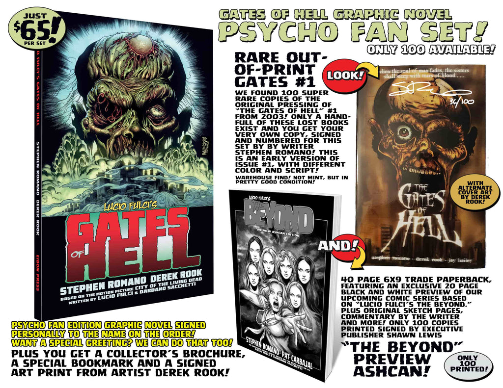 Gates Of Hell Trade Paper Back Collection PSYCHO EDITON! 3 RARE Books! Only 100 Available!
