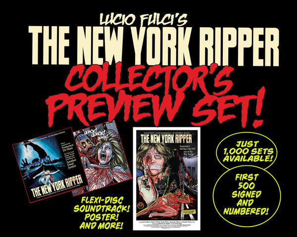 New York Ripper Preview Set! Exclusive 7-Inch Flexi Soundtrack, 11 x 17 Poster and MORE!