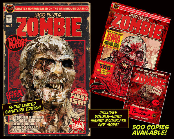 LUCIO FULCI'S ZOMBIE #1 SPECIAL EDITION REPRINT With EIBON SLEEVE - 500 Signed and Numbered!