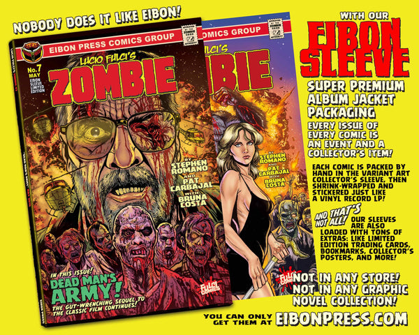 Zombie Issue #7 Standard Sleeved Edition! Exclusive Trading Card & Sticker- Only 300 Copies!