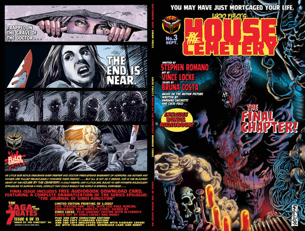 House By The Cemetery Issue #3 Psycho Fan Set! 4 Comics! 110 page Noir Ashcan Collection! TWO Variant Covers! - Only 100 Copies! ALMOST GONE!