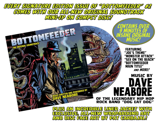 Bottomfeeder #2 Psycho Fan Three Comic Personalized Set - Only 100 Copies! ALMOST GONE!