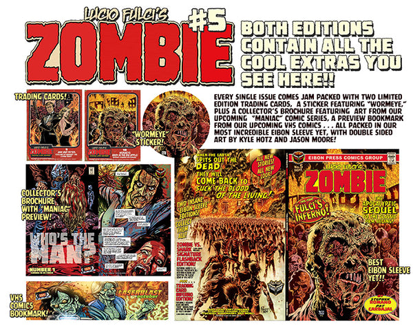 ZOMBIE ISSUE #5: Zombie vs Shark Flash Back Poster Edition! - SIGNED
