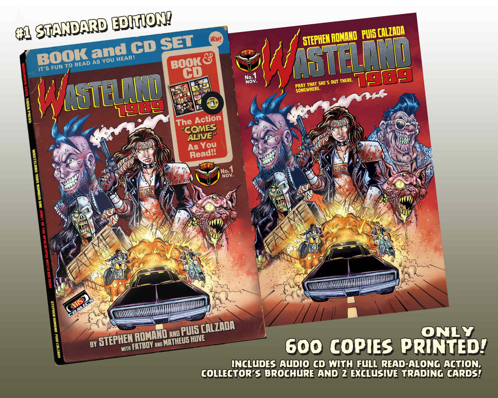 Wasteland 1989 Issue #1 Standard Edition! Includes Soundtrack CD And 2 Exclusive Trading Cards! - Only 600 Copes!