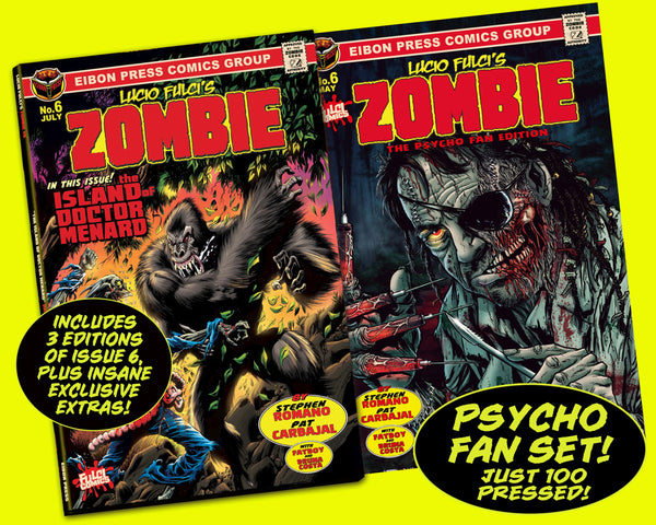 Zombie Issue #6 Psycho Fan Three Comic Personalized Set - Only 100 Copies! (only 3 copies left!)