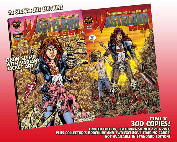 Wasteland 1989 Issue #2 Signature Edition! Signed And Numbered Comic, Signed Art Print, and 2 Exclusive Trading Cards! - Only 300 Copes!