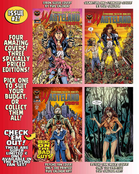 Wasteland 1989 Issue #2 Psycho Edition! 3 Comics including Script Book Ashcan and MUCH MORE - Only 100 Copies!